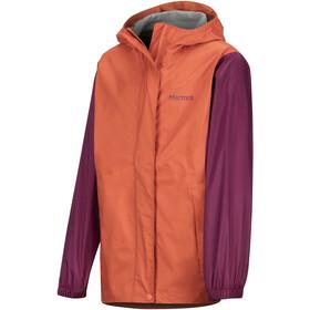 Marmot PreCip Plus Jacket Girls nasturtium/purple berry